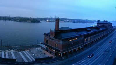 iPhone panorama of the Fotografiska building in Sodermalm, Stockholm