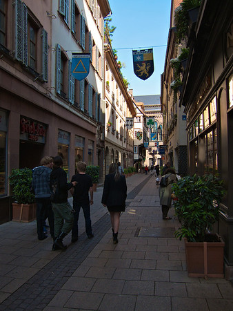 A typical Grande Île side street. Grande Île is the World Heritage Site part of Strasbourg that's surrounded by water and therefore an island (of sorts).