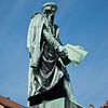 Johannes Gensfleisch zur Laden zum Gutenberg basically invented modern-day printing in the C15th (presumably after getting fed up of writing out his own name). He was German born but lived in Strasbourg for some years in exile. An important figure, his statue is at Place Gutenberg.