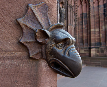 A grotesque on the cathedral wall