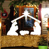 Debbie Blank | The Herald-Tribune<br /> The house at 356 Eastern Ave. displayed a striking Nativity silhouette.