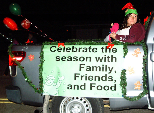 Debbie Blank | The Herald-Tribune<br /> The Sunman IGA float had a fine holiday message.