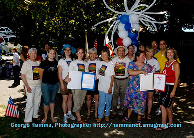 Sunnyvale Sustainable Gardening group with awards recognizing Charles Street Garden.