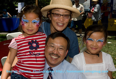 Sunnyvale Councilmember Dean Chu and his family.