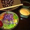 Benihana's salad with ginger sauce...