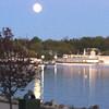 Full moon over Lake Geneva, WI