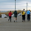 Runners on the boardwalk. ..I'm sure I'll just stick to the walking after dinner.