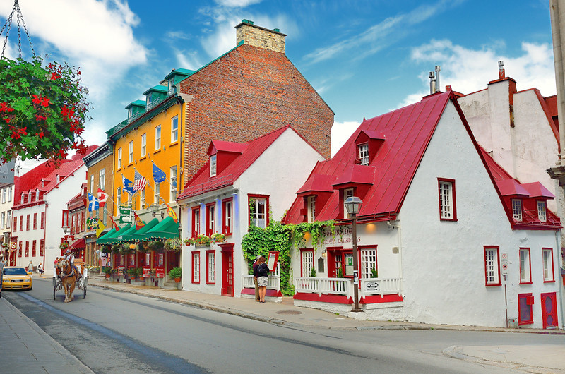 French architecture in Old Quebec