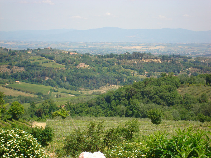 ACROSS THE VAL DI CHIANA TOWARDS CORTONA