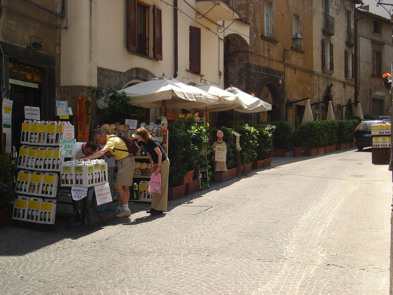 OUR PLACE FOR LUNCH IN CORSO CAVOUR, ORVIETO