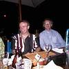 Adair and Paddy Whelan in Blues Restaurant, Stone Town, Zanzibar.
