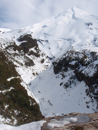 Skiing on Taranaki