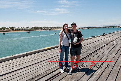 Jonathan & Claire on day four at Port Augusta. A very warm day, but we were enjoying the day of not being stuck in the car.