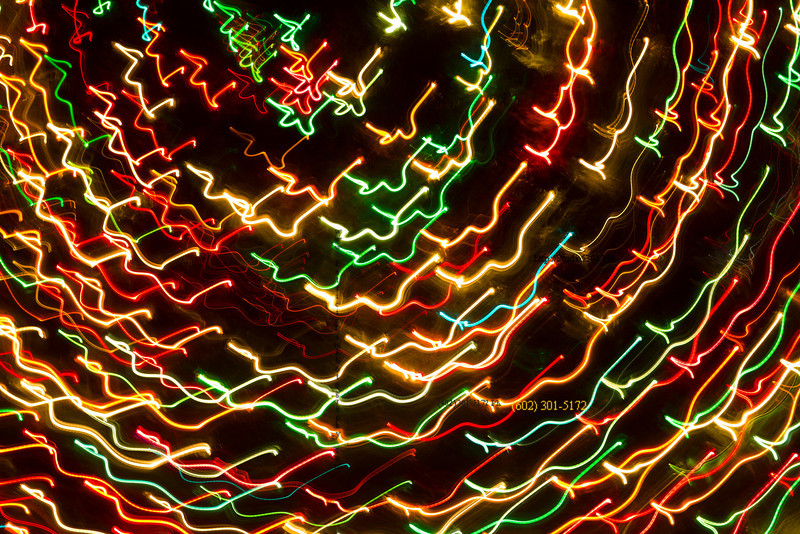 Xmas tree wild lights swirl 2927
