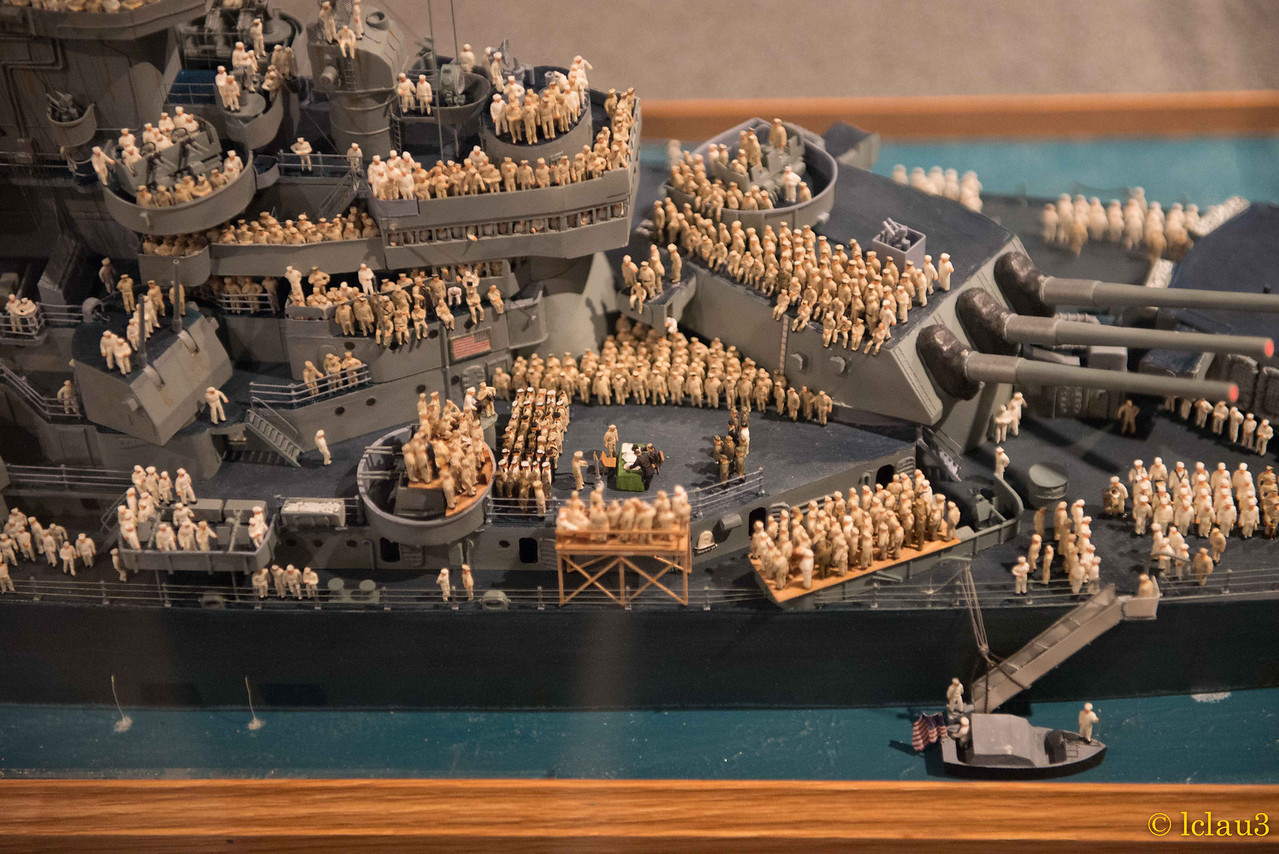 Up close of model, The War of the Pacific Museum,  Fredericksburg, TX