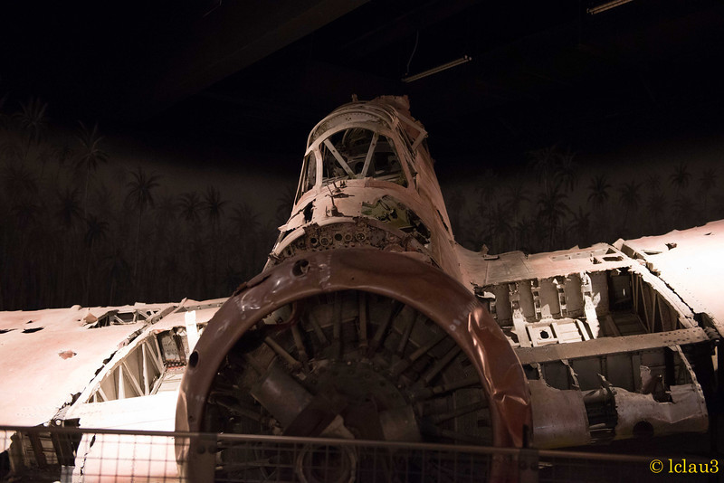 Wrecked Jap plane, The War of the Pacific Museum,  Fredericksburg, TX