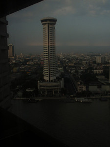 The view from our room, looking out at the Milennium Hilton (we stayed at the Royal Orchid Sheraton).