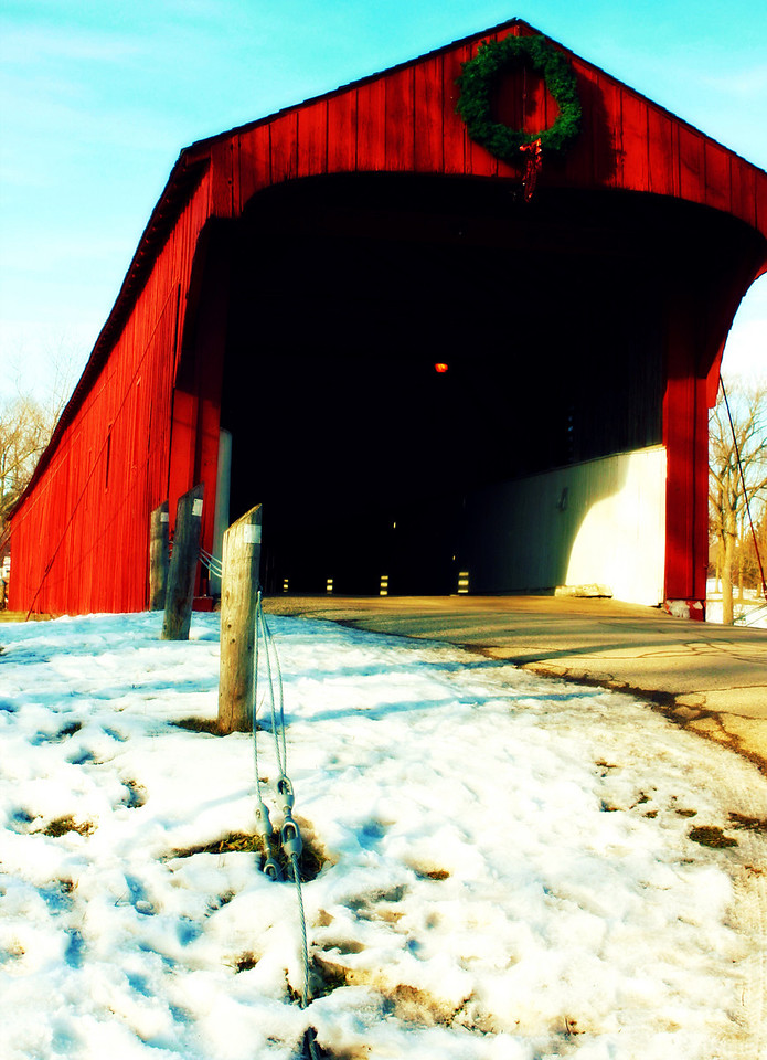 "The ""Kissing Bridge"" in West Montrose."