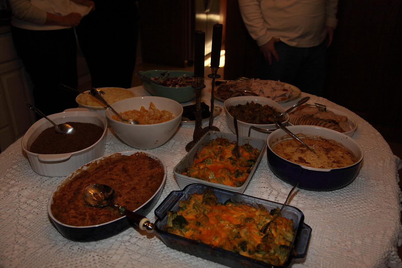 Everyone made some fine tasting food