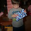 William opening his present