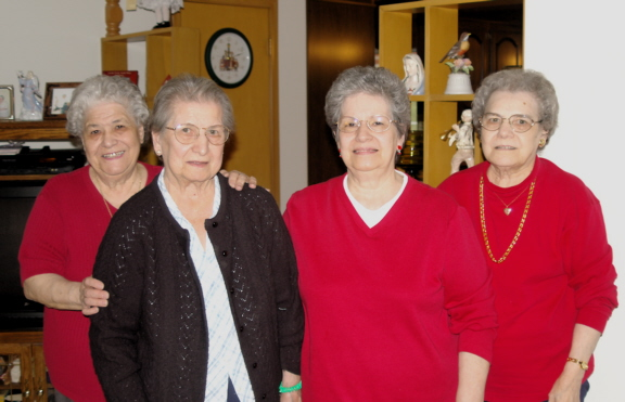 "<font size=""3"">Mom and her sisters.</font>"