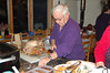 Lee's father gets down to the serious business of turkey carving