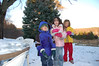 The kids had a great time in the snow at Sara & David's. That's Josh, Alison and Bonnie