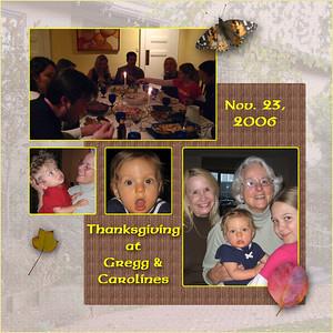 Thanksgiving 2006 at Gregg & Caroline's