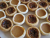 tiny pumpkin and pecan tarts for those of us who love them