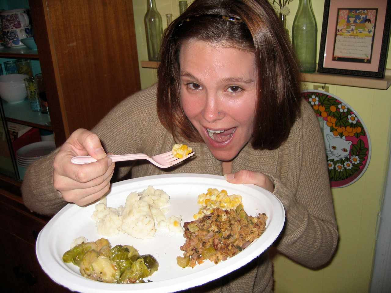 If I look pretty scared about Christian's corn pudding...it's because I was...but it was FABULOUS :)