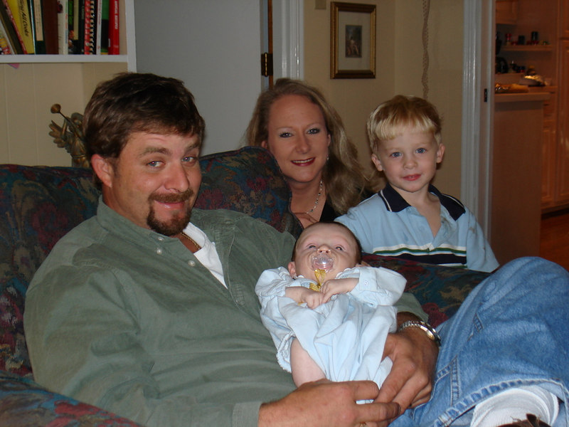 Preston, Brooke, Cade, & Reese - they all wanted to see Reese, and she had fun with her new cousins.