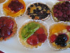 Still more desserts! A selection of fruit tarts.