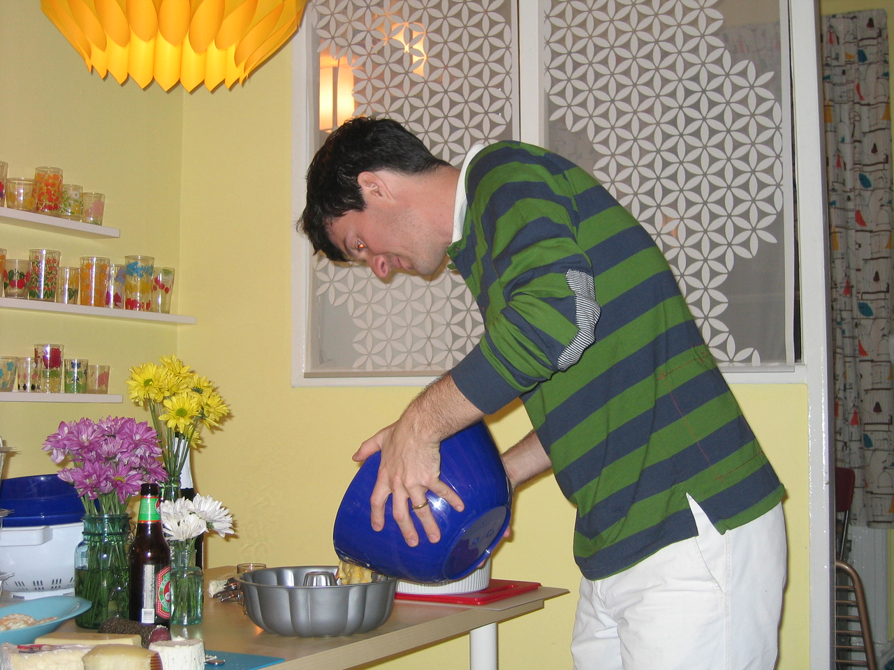 Christian preparing his speciality, corn pudding. What's that you ask? Good question...