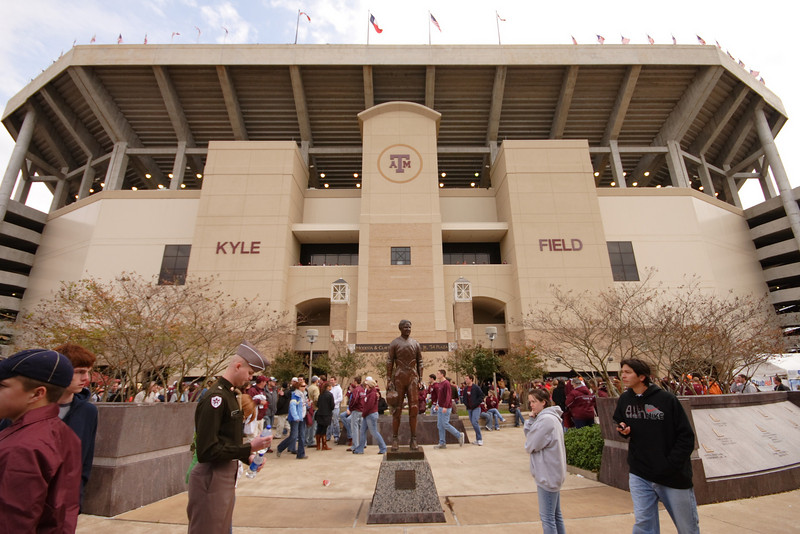 Kyle field before the t.u. game.