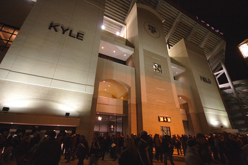 Kyle Field after the t.u. game...note the score...WHOOP!