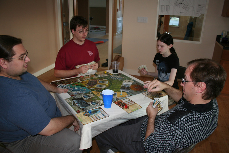 "Dave, Andy, Piper and Quick play ""Shadows Over Camelot"""