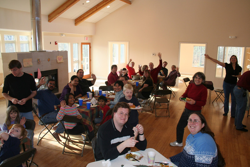 First Thanksgiving at the Common House.