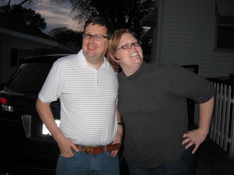 Brief stop to say hi to Brooke and David, 11/22/2011