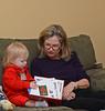 Nora reads to her grandma Linda