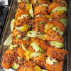 She also made this sweet potato and apple bake.  It was good!  The sauce was really yummy!