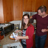 Jen prepares the Sweet Potatoes - adding the marshmallows