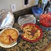 We also had cherry pie, my Aunt Laura's cranberry salad, and Aunt Suzie made some pretzel chocolate carmel nut goodies.