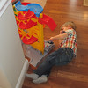 After lunch, Chase was pooped.  He laid on the floor and played with his cars.