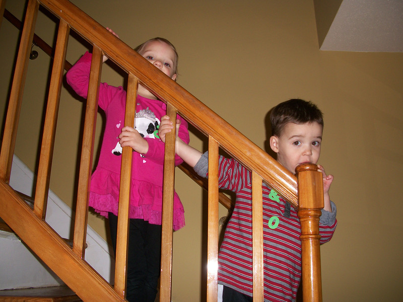 apparently the banister tasted better than my turkey :)