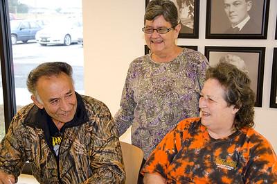 Tom and Wanda Christy  and Linda Colwell having fun at Stigler.