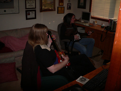 Dawn Hunter & Kelly Bradfield play Guitar Hero