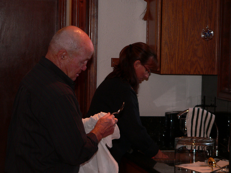 Dick & Kathleen Bradfield do the dishes