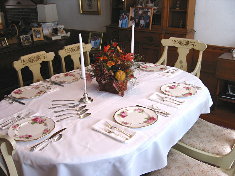 Our Thanksgiving table is set for the feast!
