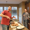 Scott always does a great Thanksgiving Dinner.<br /> If you think he is good with a knife, you should see him with a gun.