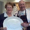 Mom and Dad with their turkey plate.